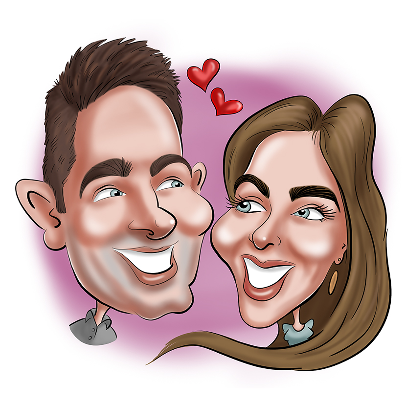 Caricature (cartoon) for wedding